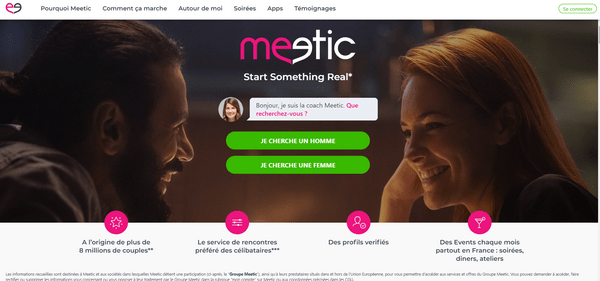 Meetic page d'accueil
